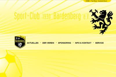 SC Bardenberg Webseite
