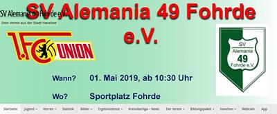 SV Alemania Fohrde Webseite