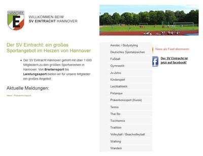 SV Eintracht Hannover Webseite
