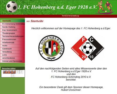 FC Hohenberg Webseite