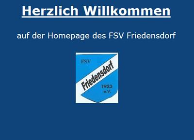 FSV Friedensdorf Webseite