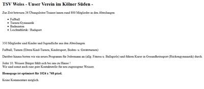 TSV Weiss Webseite
