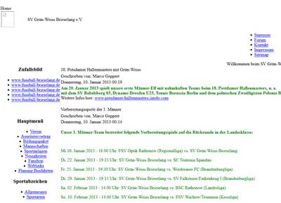 SV Grün-Weiß Brieselang Webseite