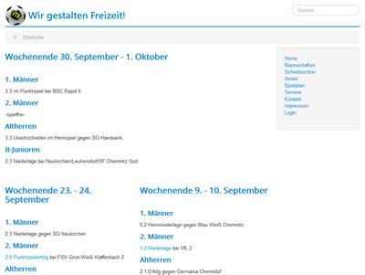 VTB Chemnitz Webseite