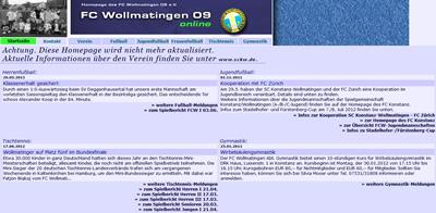 FC Wollmatingen Webseite