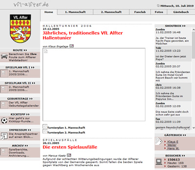 VfL Alfter Webseite