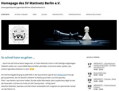 SV Mattnetz Berlin Webseite