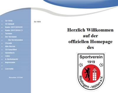 SV 1919 Rödingen-Höllen Webseite