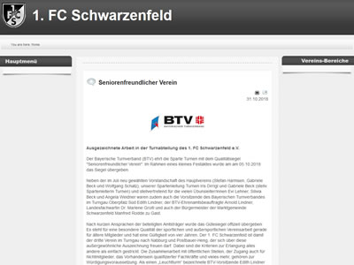 1. FC Schwarzenfeld Webseite