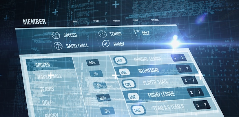 Ansicht einer Sportwetten App Übersichtsseite