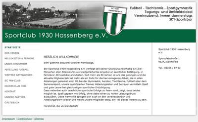 SC Hassenberg Webseite