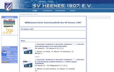 SV Heenes 1907 Webseite