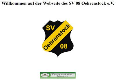 SV Oehrenstock Webseite
