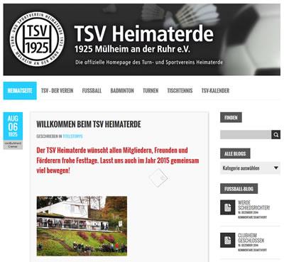 TSV Heimaterde Webseite