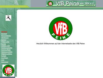 VfB Peine Webseite