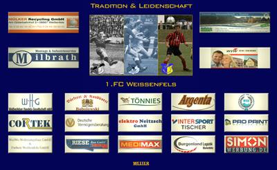 1 FC Weissenfels Webseite