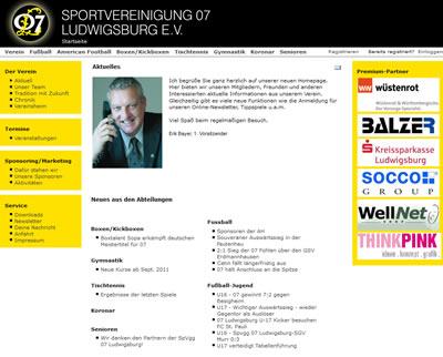 SpVgg 07 Ludwigsburg Webseite