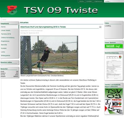 TSV 09 Twiste Webseite