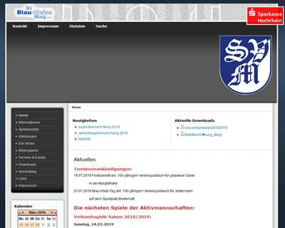 SV Blau-Weiß Murg Webseite